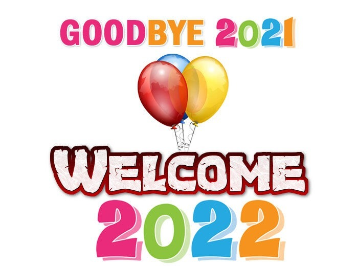 goodbye 2021 welcome 2022 clipart free images