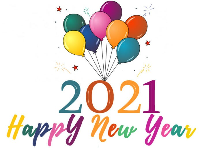 happy new year 2021 clipart free images balloons