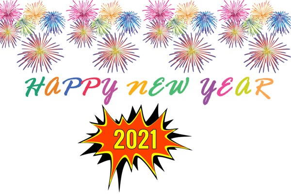 happy new year 2021 fireworks clipart