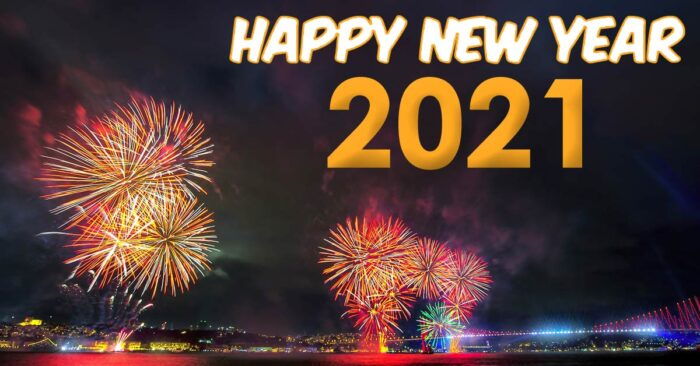 happy new year 2021 greeting cards fireworks images