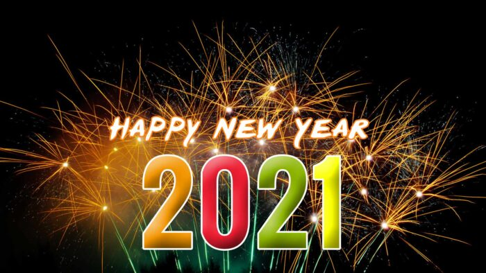 happy new year 2021 wallpaper fireworks
