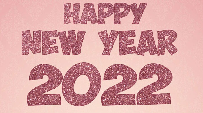 Happy New Year 2022 banner