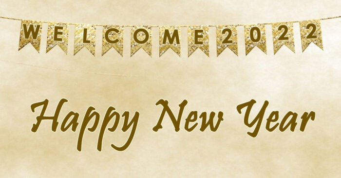 happy new year 2022 banner printable