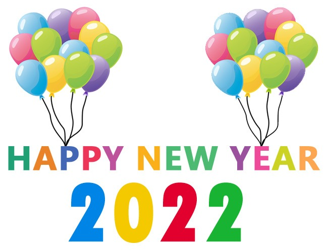 happy new year 2022 clip art free new year's day images