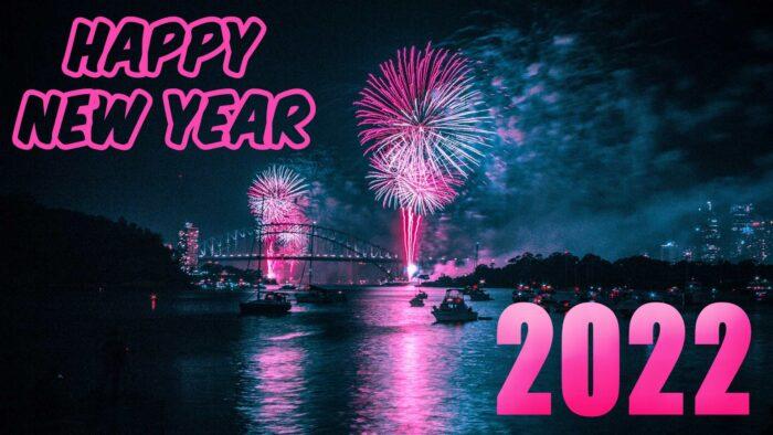 happy new year 2022 desktop background