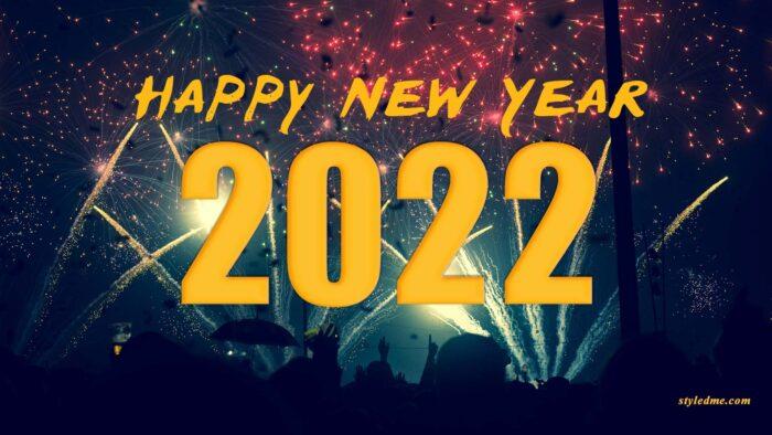 happy new year 2022 desktop background fireworks wallpaper images
