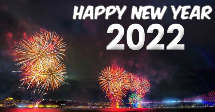 happy new year 2022 greeting cards fireworks images