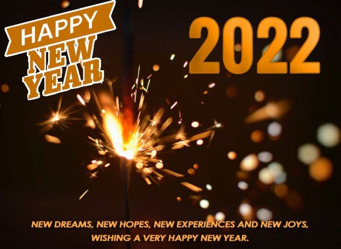 happy new year 2022 greetings cards photo