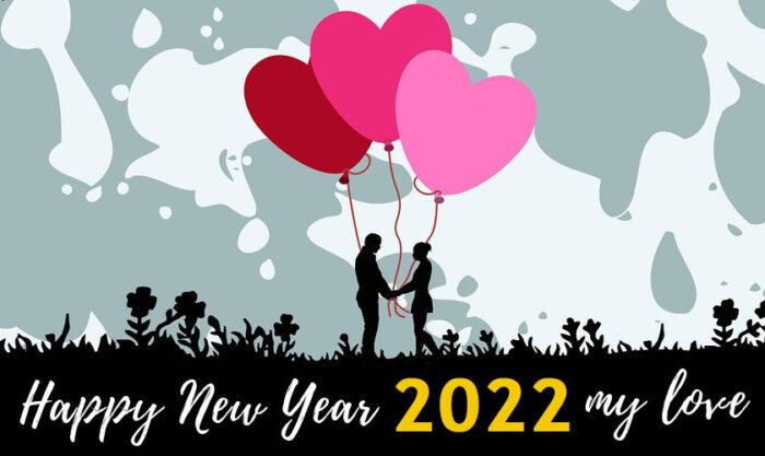 happy new year 2022 my love images romantic photo
