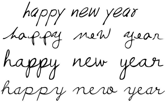 happy new year signature