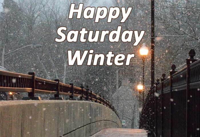 happy saturday winter images