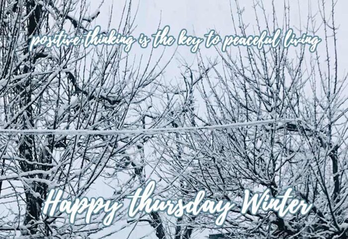 happy thursday winter quotes pictures