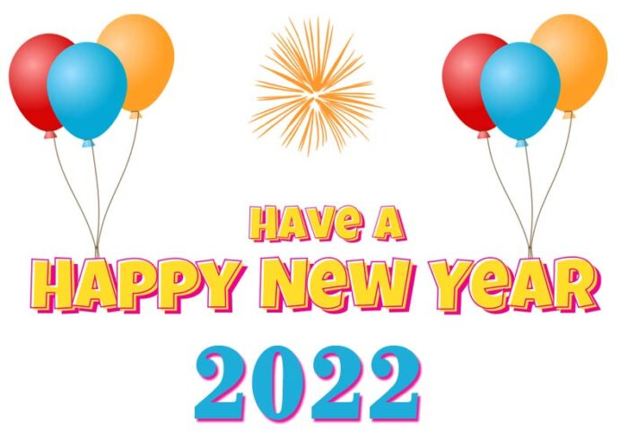 have a happy new year 2022 clipart