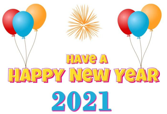 Keep calm and have a happy new year clipart capitalized card wish images