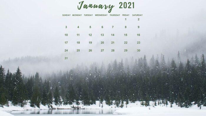 january 2021 calendar desktop laptop wallpaper free