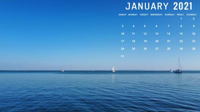 january 2021 calendar desktop wallpaper