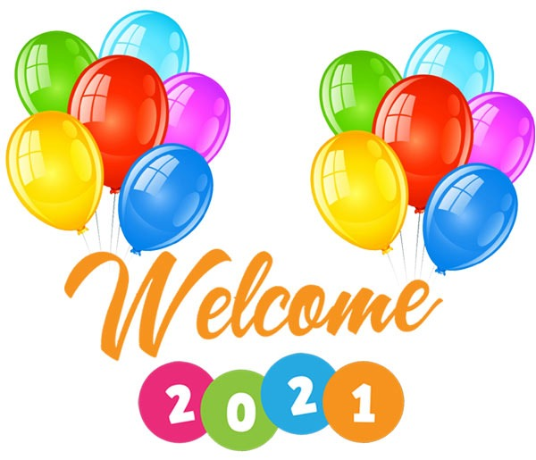 welcome 2021 clipart free images balloons
