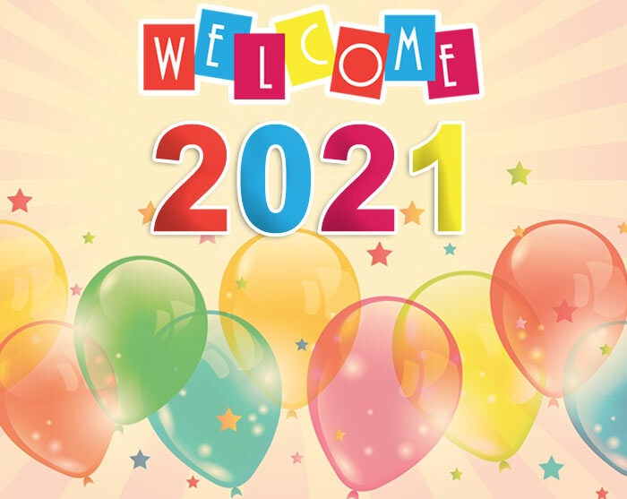welcome 2021 greetings card wishes free
