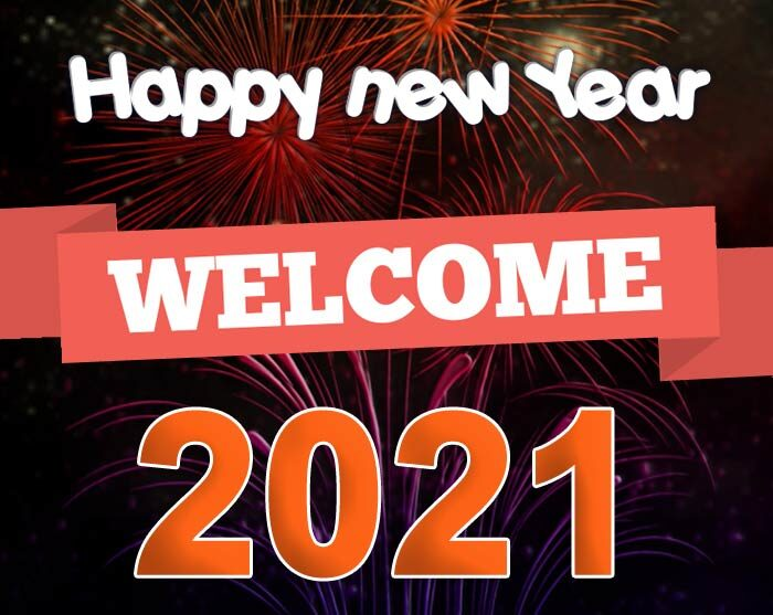 welcome 2021 wishes greetings card images
