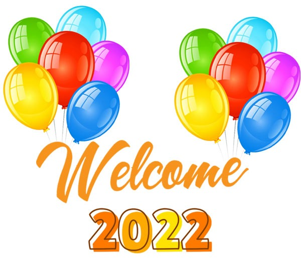 Welcome 2022 clipart free images balloons