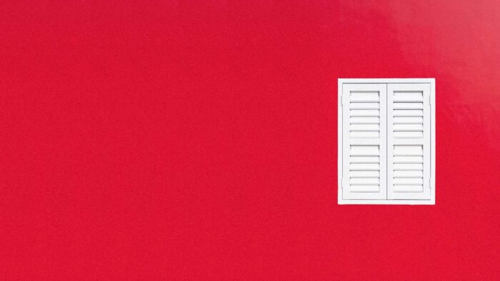 1080p high resolution red wall plain zoom background with window