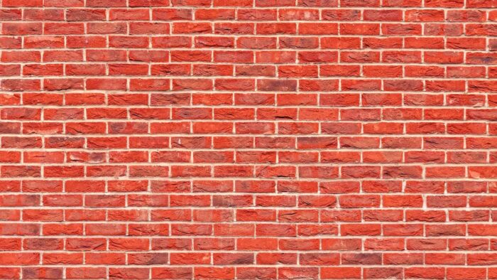 brick wall zoom background plain red