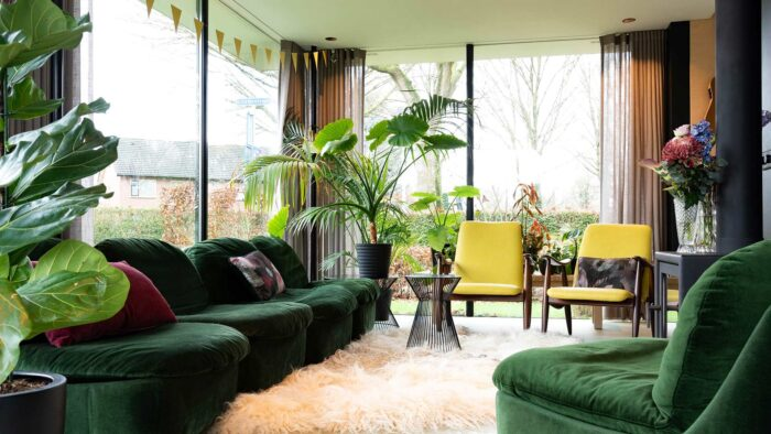 Elegant realistic zoom virtual background free living room images