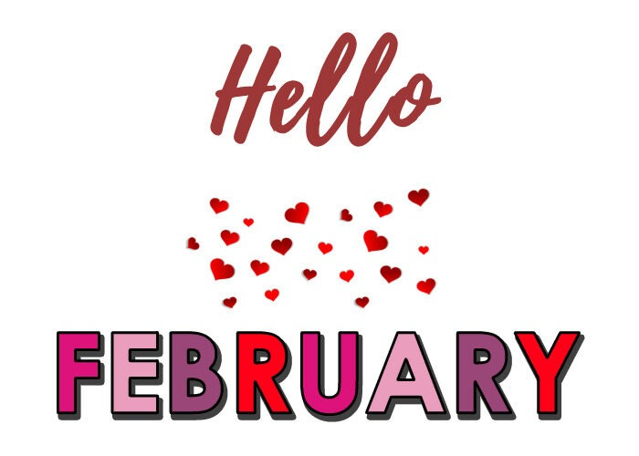 hello february clipart 2021 happy month clip art free images