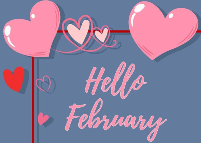 Hello February 2021 images and banner pics