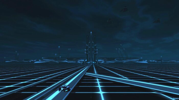 tron zoom virtual backgrounds tron legacy movie grid scene background