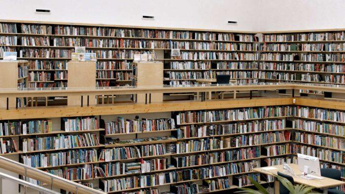 Bookshelf Zoom background images - free virtual backgrounds