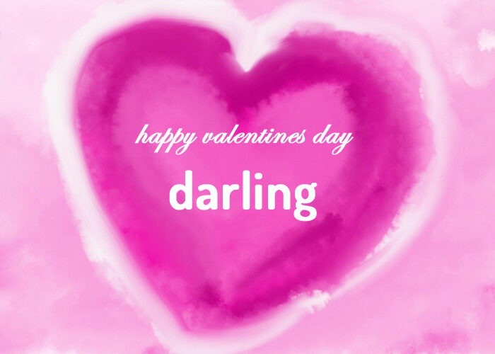 happy valentines day darling images sweetheart sweet wife girlfriend gf pics