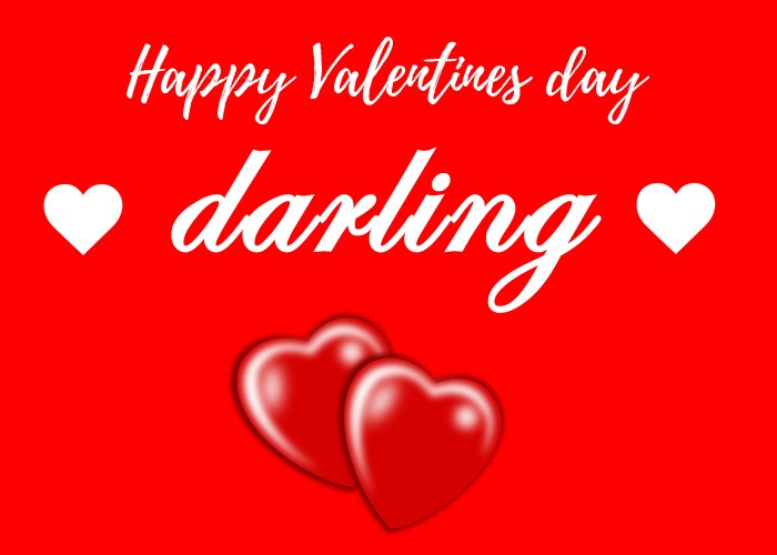 happy valentines day darling images