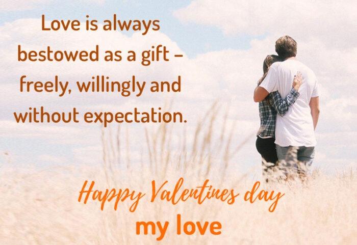 happy valentines day my love quotes romantic couple pics