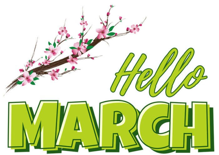 hello march clipart images welcome month clip art
