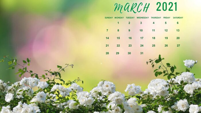 march 2021 calendar wallpaper free desktop laptop computer background