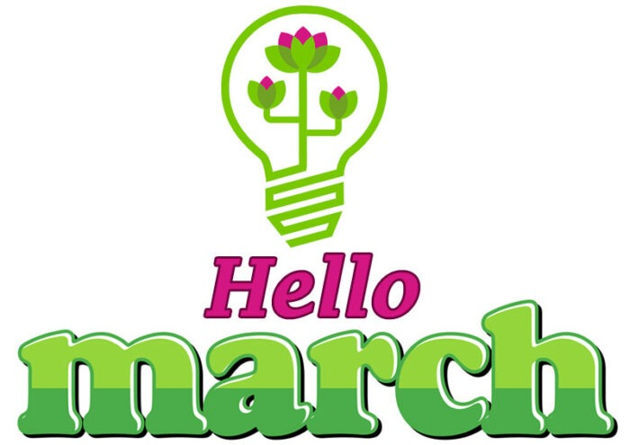 spring month hello march clipart images