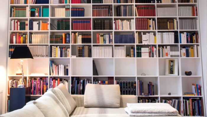 home library zoom background modern cozy realistic bookshelf virtual backgrounds