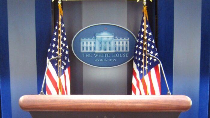 white house background press briefing room desk conference podium virtual backgrounds