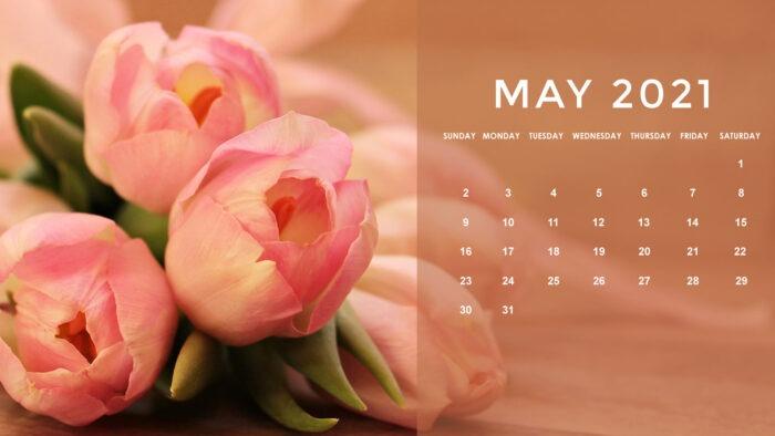 may 2021 calendar desktop wallpaper floral images