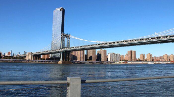 new york teams background Manhattan bridge river