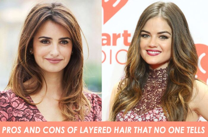 Pros and cons of layered hair