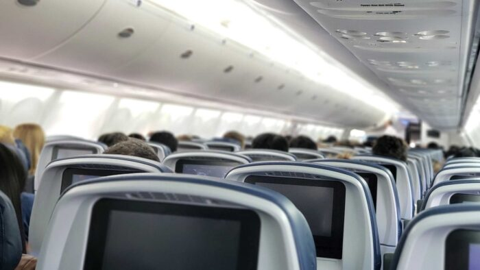 airplane seat zoom background