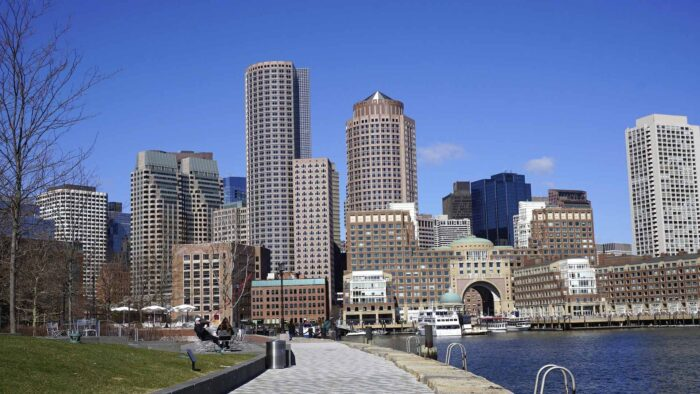 boston zoom virtual backgrounds American city buildings skyline background