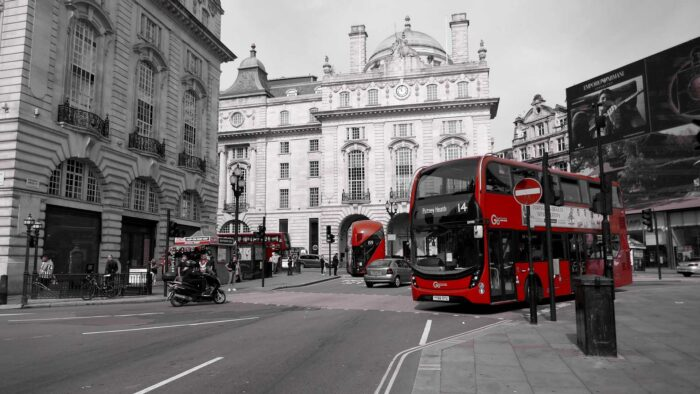 london zoom background bus