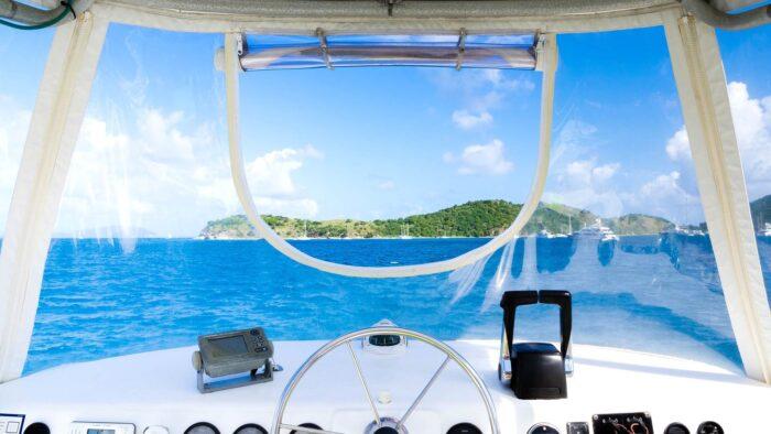 luxury yacht zoom background