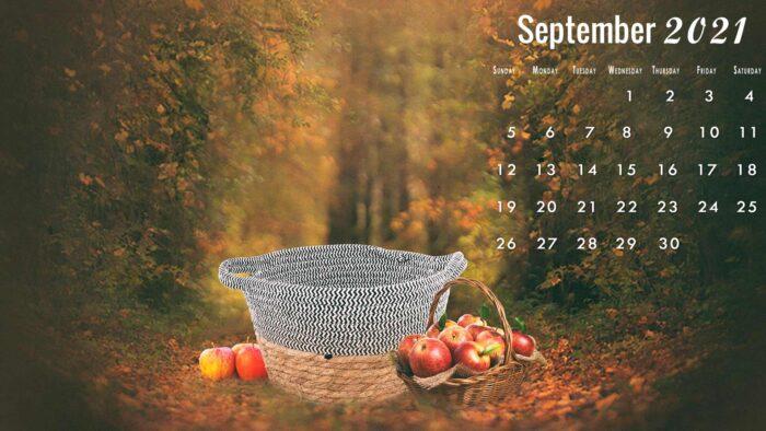 september 2021 calendar desktop wallpaper background download