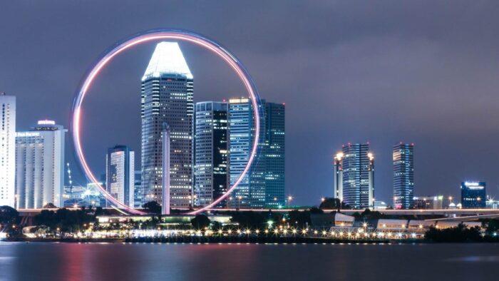 singapore zoom virtual backgrounds city buildings skyscraper skyline background