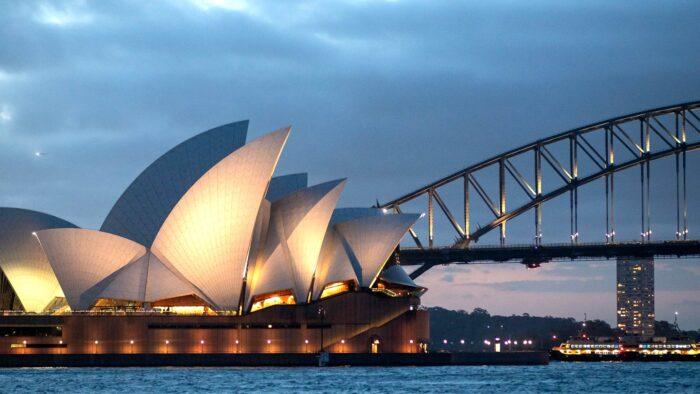 sydney zoom virtual backgrounds opera house harbour bridge background