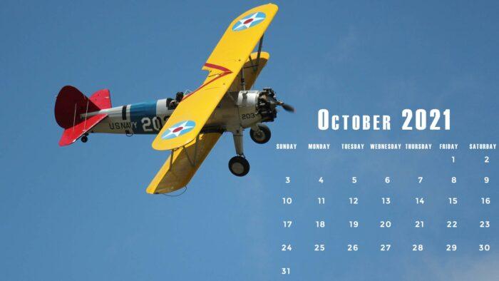 october 2021 calendar desktop laptop computer wallpaper free Oct 1920x1080 pics